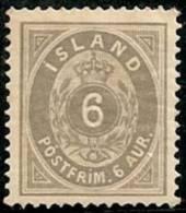 ISLANDIA 1876 - Yvert #7a - MLH * (Dentado 14) - Neufs