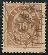 ISLANDIA 1876 - Yvert #9a (Dentado 14) - VFU - 1873-1918 Dependencia Danesa