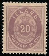 ISLANDIA 1876 - Yvert #10 - MLH * - 1873-1918 Dependencia Danesa