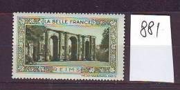 TIMBRE. BELLE FRANCE. VIGNETTE. CHAMPAGNE. .............REIMS - Tourism (Labels)