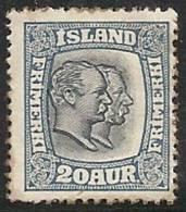 ISLANDIA 1913/18 - Yvert #81 - MLH * - 1873-1918 Dependencia Danesa