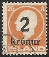 ISLANDIA 1924/26 - Yvert #110 - VFU - Usados