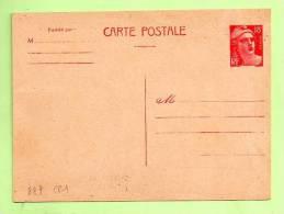 Entier - CARTE-POSTALE  GANDON 18 F Rose Carminé - Entiers Postaux
