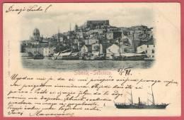 SIBENIK - SEBENICO  ( Croatia ) *  Travelled 1898 * Stengel & Co. Dresden - Croatia