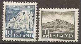 ISLANDIA 1935 - Yvert #158/59 - MLH * - 1918-1944 Administración Autónoma