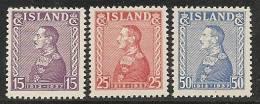 ISLANDIA 1937 - Yvert #164a/66a - MNH & MLH **y* - 1918-1944 Administración Autónoma