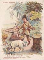 A2A Z16 CHROMO CHROMOS ANCIENNE IMAGE PUB AU BON MARCHE ROBINSON CRUSOE CHIEN DOG - Au Bon Marché
