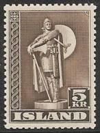 ISLANDIA 1939/43 - Yvert #187a - MLH * (Dentado 11 1/2) - 1918-1944 Administración Autónoma