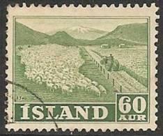 ISLANDIA 1950/52 - Yvert #226 - VFU - Usados