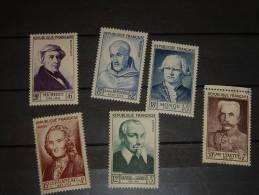 France Serie 1953  Neuf* + Oblitéré 30+7 Francs - Timbres