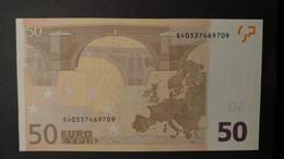 ITALIA ITALY 50 EURO 2002 TRICHET SERIE S 40337469709 J066F4 UNC FDS 1/2 CONSECUT. - EURO