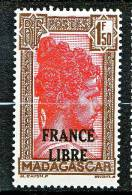 MADAGASCAR FRANCE LIBRE  N�  249  NEUF** LUXE