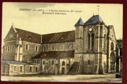 Cpa  Du  91  Longpont  L' église Fondée Au XIè Siècle  Monument Historique   PUO24 - France