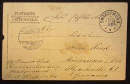 18120 Swakopmund 17/08/1904 Vers Mülhausen 15/09/1904 Postkarte Avec Kudu - Colony: German South West Africa
