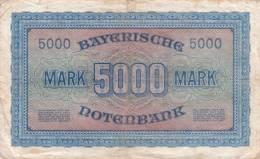 ALLEMAGNE - BILLET DE 5 000 MARK - 1922 - [11] Emissions Locales