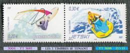 2004 - Europe - France - Planche à Voile Et Jet-ski - 2 Timbres Se Tenant -