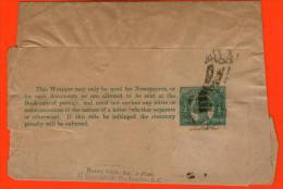 QUEENSLAND Half Penny Newspaper Wrapper Stationery Used London UK - Ganzsache Streifband Entero Faja Postal - Cartas