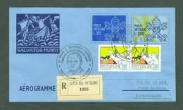 VATICAN  1989 AEROGRAMME REGISTERED POPE JOHN PAUL II Travel To KOBENHAVN DENMARK (WITH NEWSPAPER OF EVENT) (E7983 - Lettres & Documents