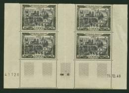 France PA N° 29 Coin Daté Du 15 12 49 Neuf **  Cote Y&T   900,00  €uro  Au 5 Eme De Cote - Coins Datés