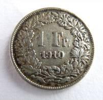 SUISSE PIECE MONNAIE - 1 FRANCS ARGENT - 1910 - Svizzera