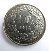 SUISSE PIECE MONNAIE - 1 FRANCS ARGENT - 1914 - Suisse