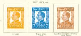 BULGARIA - 1937 King Boris II Mounted Mint - Ungebraucht