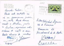 3263. Postal LISBOA (Portugal) 1963. Vista Castillo De Moros De SINTRA - 1910-... República