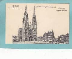 OSTENDE.  -  La  Nouvelle  Eglise St-Pierre Et Paul  -  De Nieuwe Hoofd Kerk  -  BELLE CARTE  - - Oostende