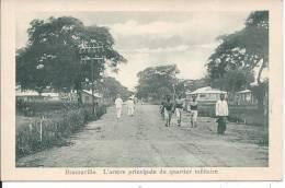 CONGO - BRAZZAVILLE - L'artère Principale Du Quartier Militaire - Brazzaville