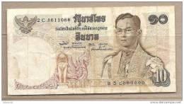 Thailandia - Banconota Circolata Da 10 Baht - Tailandia