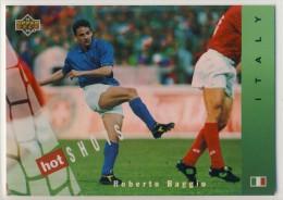 1994 Upper Deck World Cup HOT SHOT Insert Card Of Roberto Baggio, Italian Star - Soccer
