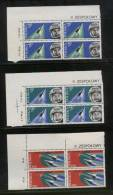 POLAND 1963 2ND CREW MANNED FLIGHT COSMONAUTS BYKOWSKI & 1ST WOMAN IN SPACE TIERIESZKOWA NHM MARGINAL BLOCKS COSMOS - Space