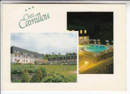 AUMONT AUBRAC 48  - Hotel Restaurant CHEZ CAMILLOU RN 9 - CPSM CPM GF - Lozère - Aumont Aubrac