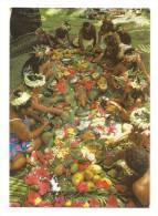 "Cp, Polynésie Française,  Tahiti, Un ""Tamaaraa"" (Repas Tahitien), écrite - Polynésie Française"