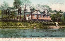 Gruss Von Weissen Turm Bei Mulheim A Ruhr 1905 Postcard - Muelheim A. D. Ruhr