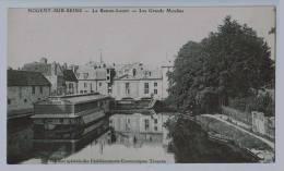 10b32CpaNOGENT SUR SEINELe Bateau Lavoir Et Les Grands Moulins Avant Incendie De Déc 1908 - Nogent-sur-Seine
