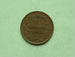 1903 - 1 CENTESIMO / KM 35 ( Uncleaned - For Grade, Please See Photo ) ! - 1861-1946 : Royaume