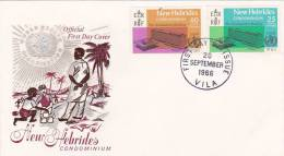 New Hebrides 1966 WHO New Headquarters FDC - Nouvelles-Hébrides