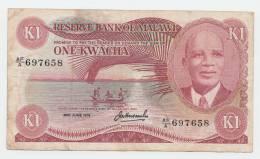 MALAWI 1 KWACHA 1979 VF Rare P 14c - Malawi
