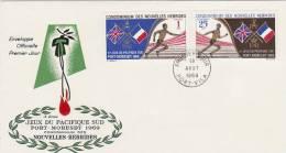 New Hebrides 1969 3rd South Pacific Games FDC - Nouvelles-Hébrides