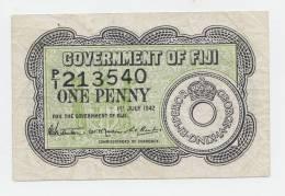 Fiji 1 Penny 1942 VF+ P 47 - Fiji