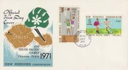 New Hebrides 1971 4th South Pacific Games - Nouvelles-Hébrides
