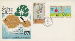 New Hebrides 1971 4th South Pacific Games FDC - Nouvelles-Hébrides
