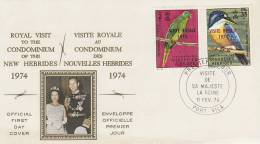 New Hebrides 1974 Royal Visit  FDC - Nouvelles-Hébrides