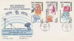 New Hebrides 1976 Telephone Centenary - Nouvelles-Hébrides