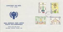 New Hebrides 1979 Christmas-IYC  FDC - Nouvelles-Hébrides