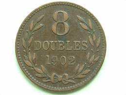 1902 H - 8 DOUBLES / KM 7 ( For Grade, Please See Photo ) !! - Guernsey