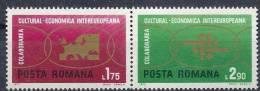 1972 ROUMANIE 2680-81** Collaboration Européenne, Carte Europe - 1948-.... Republics