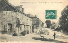 CHARBOGNE CAFE DU COMMERCE ET GRANDE RUE  CARTE RARE - Autres Communes