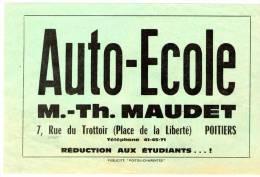 Publicité , Auto-école MAUDET , Poitiers , Programme : L'Anconitaine De Ruzante , 2 Scans - Advertising